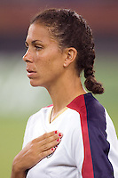 Shannon Boxx. The USA defeated England, 3-0 during the quarterfinals of the FIFA Women's World Cup in Tianjin, China.  The USA defeated England, 3-0.