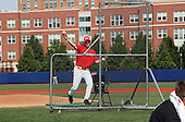 Steve Benrhardt pitches batting practice during practice for the Under Armour All-American Game at Les Miller Field on August 13, 2010 in Chicago, Illinois.  (Copyright Mike Janes Photography)