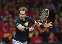 Gent, Belgium, November 27, 2015, Davis Cup Final, Belgium-Great Britain, Second match, Andy Murray (GBR) <br /> Photo: Tennisimages/Henk Koster