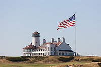 The clubhouse of the Bayonne Golf Club in Bayonne, New Jersey.