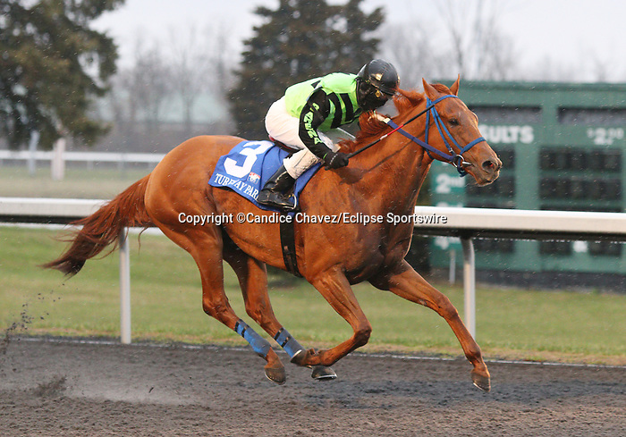 March 14, 2020 : #3 Nun the Less and jockey Rodney Prescott win the 20th running of The TwinSpires Kentucky Cup Classic (BT) $150,000 for owner Crystal Racing Enterprises and Contreras Stable and trainer Cipriano Contreras at Turfway Park in Florence, KY on March 14, 2020.  Candice Chavez/ESW/CSM