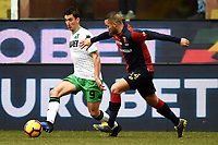 Filip Djuricic Sassuolo, Davide Biraschi Genoa <br /> Genova 03-02-2019 Stadio Marassi, Football Serie A 2018/2019 Genoa - Sassuolo   <br /> Foto Image Sport / Insidefoto