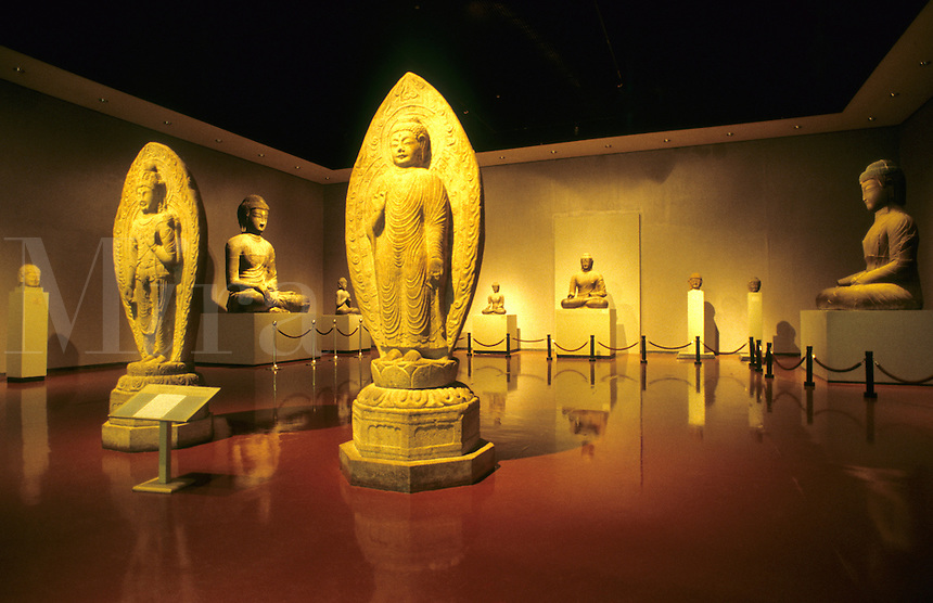 Famous National Museum of Korea. The Buddha Collection of rare buddhas, Seoul, Korea