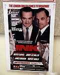 'INK' promo poster at Manhattan Theatre Club Rehearsal Studios on March 5, 2019 in New York City.