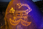 Cougar with Scimitar Claws, Three Rivers Petroglyph Site, New Mexico