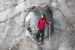 New Zealand, South Island, West Coast: Fox Glacier, tunnel | Neuseeland, Suedinsel, West Coast: Tunnel am Fox Glacier