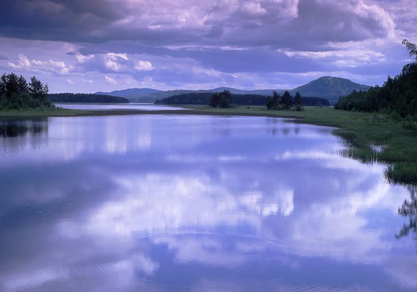 Europe, SWE, Sweden, Darlana, Siljan lake, Clouds, Waterreflection