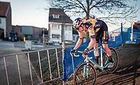 Wout van Aert (BEL/Jumbo-Visma) during his first race of the 20/21 cyclocross season at the 2020 Urban Cross Kortrijk (BEL)<br /> <br /> ©kramon