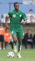 Saud Kariri of Saudi Arabia. Saudi Arabia and Tunisia played to a 2-2 tie in their FIFA World Cup Group H match at FIFA World Cup Stadium, Munich, Germany, June 14, 2006.