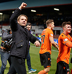 08.11.2019 Dundee v Dundee Utd: Robbie Neilson celebrates at the end