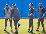 03.03.2020 Rangers training: Steven Gerrard and his coaches