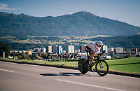 Tao Geoghegan Hart (GBR/SKY)<br /> <br /> MEN ELITE INDIVIDUAL TIME TRIAL<br /> Hall-Wattens to Innsbruck: 52.5 km<br /> <br /> UCI 2018 Road World Championships<br /> Innsbruck - Tirol / Austria