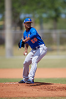 New York Mets Pitcher Merandy Gonzalez (58) during a minor league Spring Training game against the Miami Marlins on March 26, 2017 at the Roger Dean Stadium Complex in Jupiter, Florida.  (Mike Janes/Four Seam Images)