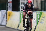 Philippe Gilbert (BEL) Lotto-Soudal in action during Stage 4 of the 78th edition of Paris-Nice 2020, and individual time trial running 15.1km around Saint-Amand-Montrond, France. 11th March 2020.<br /> Picture: ASO/Fabien Boukla | Cyclefile<br /> All photos usage must carry mandatory copyright credit (© Cyclefile | ASO/Fabien Boukla)