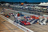 The green flag waves to start the 1997 12 Hours of Sebring at Sebring International Raceway, Sebring, FL , March 15 1997.(Photo by Brian Cleary/bcpix.com)