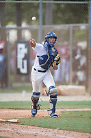 Manuel Jackson (21) during the WWBA World Championship at the Roger Dean Complex on October 10, 2019 in Jupiter, Florida.  Manuel Jackson attends Coral Gables Senior High School in Coral Gables, FL and is committed to Eastern Kentucky.  (Mike Janes/Four Seam Images)