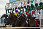 """DEL MAR, CA. AUGUST 19: The start  of the TVG Pacific Classic (Grade l) """"Win and You're In Classic Division"""", on August 19, 2017, at Del Mar Thoroughbred Club in Del Mar, CA. (Photo by Casey Phillips/Eclipse Sportswire/Getty )"""