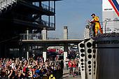 Verizon IndyCar Series<br /> IndyCar Grand Prix<br /> Indianapolis Motor Speedway, Indianapolis, IN USA<br /> Saturday 13 May 2017<br /> Scott Dixon, Chip Ganassi Racing Teams Honda, Will Power, Team Penske Chevrolet, Ryan Hunter-Reay, Andretti Autosport Honda, podium, champagne.<br /> World Copyright: Michael L. Levitt<br /> LAT Images