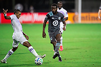 LAKE BUENA VISTA, FL - AUGUST 06: Osvaldo Alonso #6 of Minnesota United FC kicks the ball during a game between Orlando City SC and Minnesota United FC at ESPN Wide World of Sports on August 06, 2020 in Lake Buena Vista, Florida.