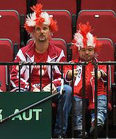 15-sept.-2013,Netherlands, Groningen,  Martini Plaza, Tennis, DavisCup Netherlands-Austria, fourth rubber,  Austrian supporters <br /> Photo: Henk Koster