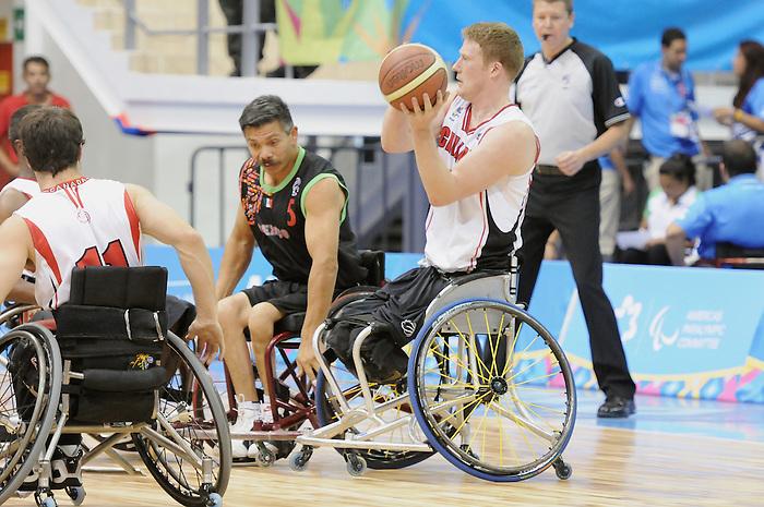Patrick Anderson, Guadalajara 2011 - Wheelchair Basketball // Basketball en fauteuil roulant.<br /> Team Canada competes in the bronze medal game // Équipe Canada participe au match pour la médaille de bronze. 11/18/2011.