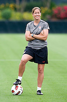 Erica Walsh. The USWNT practice at WakeMed Soccer Park in preparation for their game with Japan.