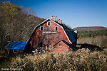 Red barn at Hautboy Hill Farm, Cornwall,  Litchfield Hills, CT