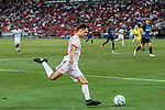 Bayern Munich Forward Milos Pantovic attempts a kick during the International Champions Cup match between FC Bayern and FC Internazionale at National Stadium on July 27, 2017 in Singapore. Photo by Marcio Rodrigo Machado / Power Sport Images