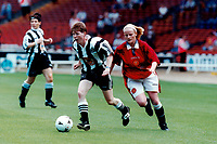Match action during Manchester United Ladies vs Newcastle United Ladies, Charity Match Football at Wembley Stadium on 11th August 1996