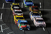 #18: Kyle Busch, Joe Gibbs Racing, Toyota Camry M&M's Hazelnut and #4: Kevin Harvick, Stewart-Haas Racing, Ford Mustang Busch Beer Millennial Car