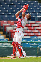 Catcher Hao Guochen (10) of the China National Team during a game vs. the Washington Nationals Instructional League team at Holman Stadium in Vero Beach, Florida September 28, 2010.   China is in Florida training for the Asia games which will be played in Guangzhou, China in November.  Photo By Mike Janes/Four Seam Images