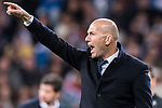 Coach Zinedine Zidane of Real Madrid reacts during their La Liga match between Real Madrid and Real Betis at the Santiago Bernabeu Stadium on 12 March 2017 in Madrid, Spain. Photo by Diego Gonzalez Souto / Power Sport Images