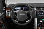 Car pictures of steering wheel view of a 2020 Land Rover Range-Rover HSE 5 Door SUV Steering Wheel