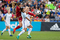 England's Demi Stokes Steph Houghton and Spain's Alexia Putellas during the frendly match between woman teams of  Spain and England at Fernando Escartin Stadium in Guadalajara, Spain. October 25, 2016. (ALTERPHOTOS/Rodrigo Jimenez) /NORTEPHOTO.COM