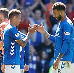 12.05.2019 Rangers v Celtic: James Tavernier and Connor Goldson