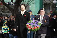 Nov 11, 2012 - Montreal, Quebec, CANADA -  Remembrance Day - Justin Trudeau