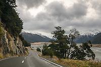 Road towards Arthur's Pass, Waimakariri River on right, Arthur's Pass, Canterbury, New Zealand