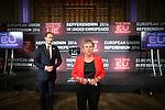 © Joel Goodman - 07973 332324 . 24/06/2016 . Manchester , UK . Gisela Stuart of Vote Leave at the declaration in the EU referendum at Manchester Town Hall . Photo credit : Joel Goodman