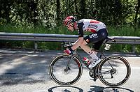 Tim Wellens (BEL/Lotto-Soudal) as a solo man on a trafic free highway<br /> <br /> 73rd Critérium du Dauphiné 2021 (2.UWT)<br /> Stage 8 (Final) from La Léchère-Les-Bains to Les Gets (147km)<br /> <br /> ©kramon