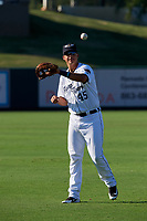 Lakeland Flying Tigers Colby Bortles (45) during warmups before a Florida State League game against the Palm Beach Cardinals on May 22, 2019 at Publix Field at Joker Marchant Stadium in Lakeland, Florida.  Palm Beach defeated Lakeland 8-1.  (Mike Janes/Four Seam Images)