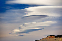 Lenticular clouds over Yellowstone National Park, WY