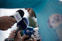 post-finish interviews for Vincenzo Nibali (ITA/Astana)<br /> <br /> Stage 18 (ITT) - Sallanches › Megève (17km)<br /> 103rd Tour de France 2016
