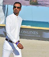 MIAMI BEACH, FL - APRIL 09: Sheikh Ali Bin Khalid Al Thani at the Longines Global Champions Tour stop in Miami Beach on April 9, 2016 in Miami Beach, Florida.<br /> <br /> <br /> People:  Sheikh Ali Bin Khalid Al Thani