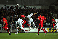 Pictured: Gorka Pintado of Swansasea City in action <br /> Re: Carling Cup Round Four, Swansea City Football Club v Watford at the Liberty Stadium, Swansea, south Wales, Tuesday 11 November 2008.<br /> Picture by Dimitrios Legakis Photography (Athena Picture Agency), Swansea, 07815441513