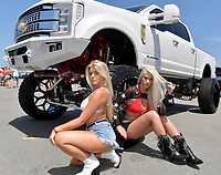 DAYTONA BEACH, FL - SEPTEMBER 05:  American Force Models at the 2020 Daytona Truck Meet which is The LARGEST truck show in the world! PRESENTED BY AMERICAN FORCE WHEELS with over 35,000 spectators, 100s of vendors, burn out pit, and live entertainment. Trucks are all the rage with Celebrities like Shaquille O'Neal, Lady GaGa, Dwayne Johnson and Kid Rock just to name a few at Daytona International Speedway on September 5, 2020 in Daytona Beach, Florida.<br /> <br /> People:  American Force Models