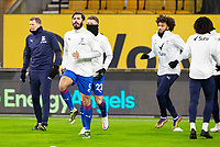 8th January 2021; Molineux Stadium, Wolverhampton, West Midlands, England; English FA Cup Football, Wolverhampton Wanderers versus Crystal Palace; James Tomkins of Crystal Palace warming up with the team