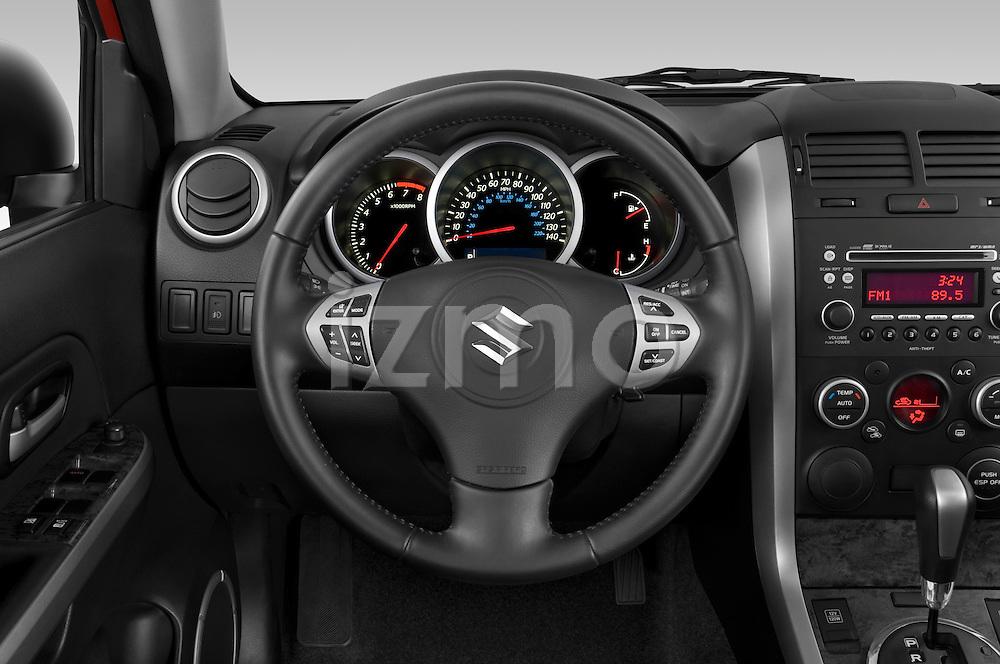 Steering wheel view of a 2009 Suzuki Grand Vitara