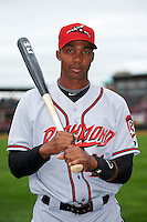 Richmond Flying Squirrels outfielder Daniel Carbonell (46) poses for a photo before a game against the Erie Seawolves on May 20, 2015 at Jerry Uht Park in Erie, Pennsylvania.  Erie defeated Richmond 5-2.  (Mike Janes/Four Seam Images)