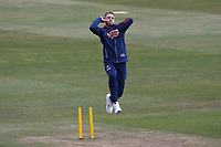 Jamie Porter of Essex warms up ahead of Day Four during Warwickshire CCC vs Essex CCC, LV Insurance County Championship Group 1 Cricket at Edgbaston Stadium on 25th April 2021