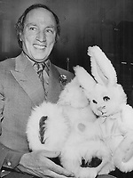 Trudeau and toys for the boys. Two furry stuffed animals for sons Justin and Sacha were presented to Prime Minister Pierre Trudeau last night at Liberal rally in Hamilton.<br /> Griffin, Doug<br /> Picture, 1974,